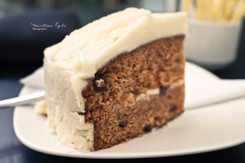 A slice of carrot-cake