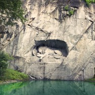 The Lion Monument, Luzern, Switzerland.