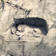 The Lion Monument in Luzern, Switzerland