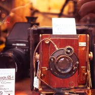 A window display from a camera shop in Hampstead, London.