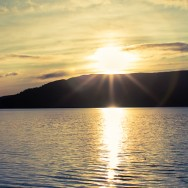 A sunset on Loch Lomond.
