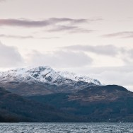 The view from Rowardennan onto Loch Lomond.