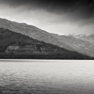 A mountain on Loch Lomond in Scotland.