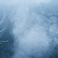 Steam on a blue background
