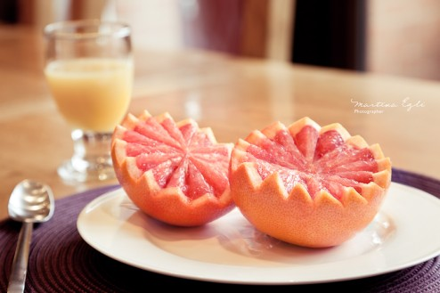 Grapefruit halves