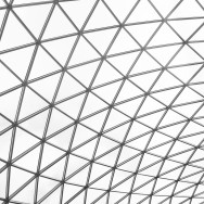 Glass roof at the British Museum, London