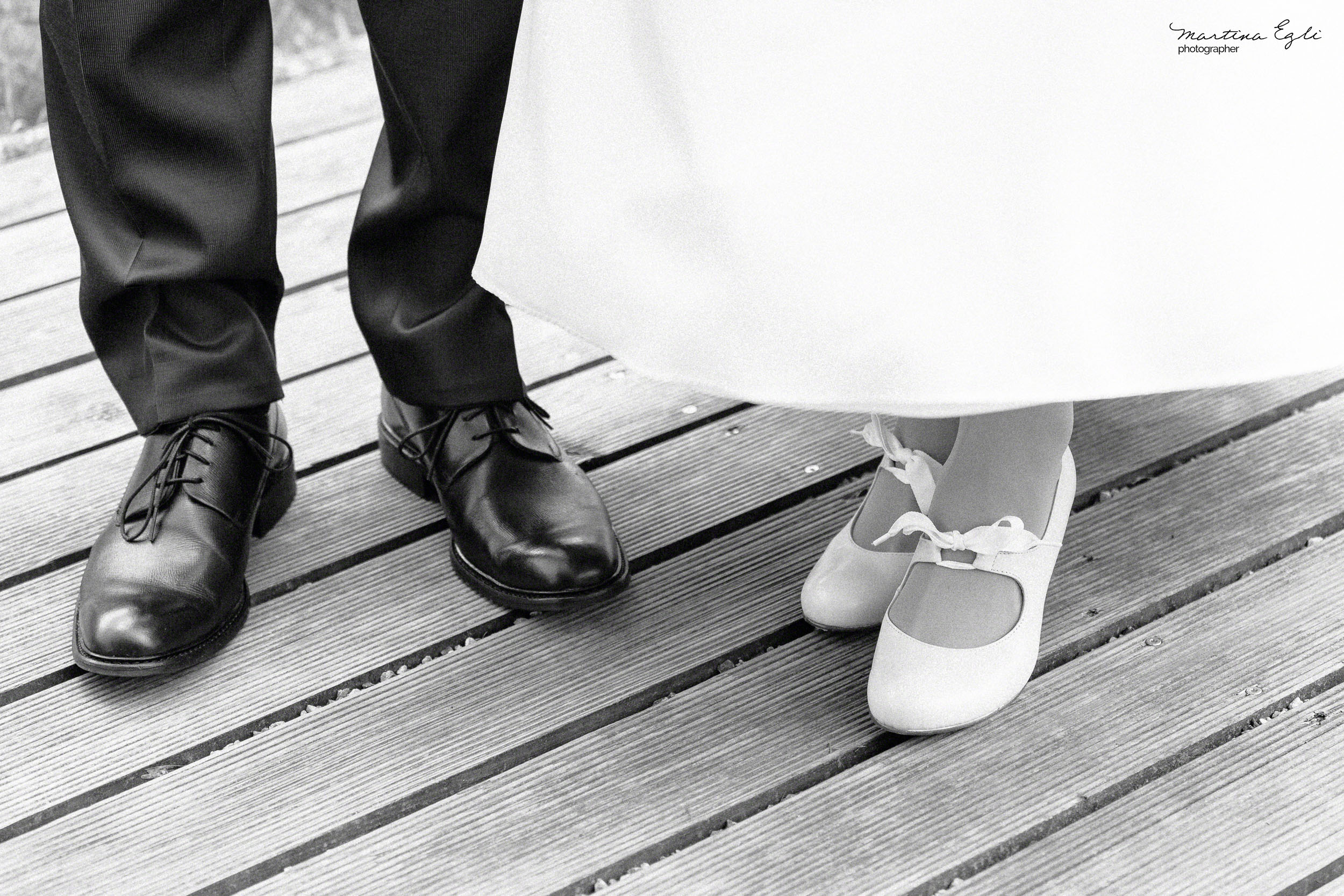 A Bride and Groom's Shoes