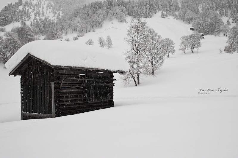 A snow hut.