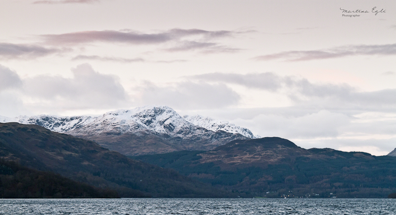 The view from Rowardennan onto Loch Lomond.