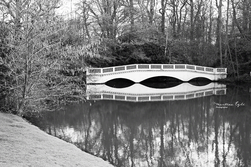 A bridge on Hampstead Heath.