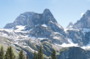 A section of an Alpine Moutain Range