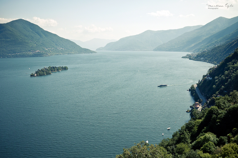 A view of Lago Maggiore in Switzerland.
