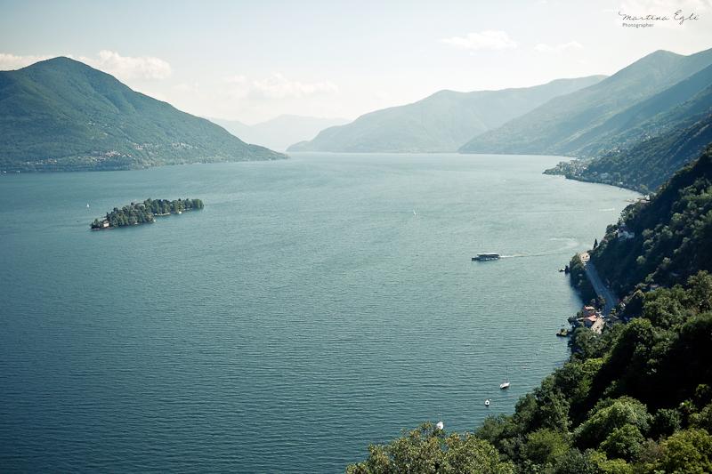 A view of Lago Maggiore in Switzerland.