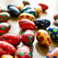 Colourful chocolate Easter Eggs.